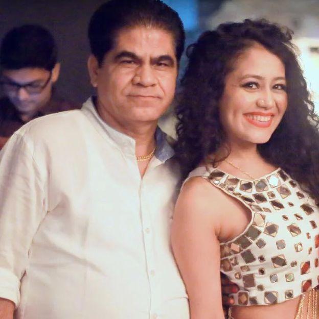 Neha Kakkar with her father, Rishikesh Kakkar