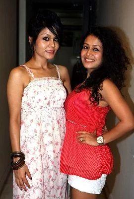 Neha Kakkar with her sister, Sonu Kakkar