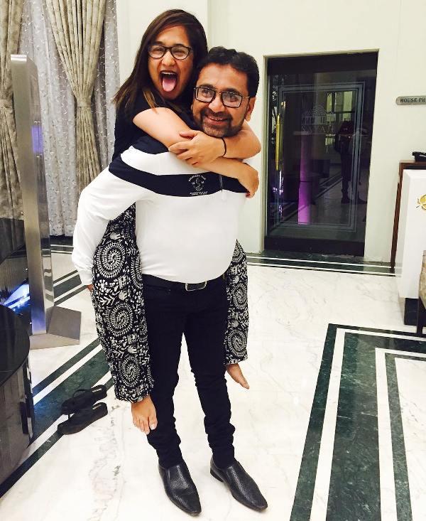 Zahara Sethjiwala with her father