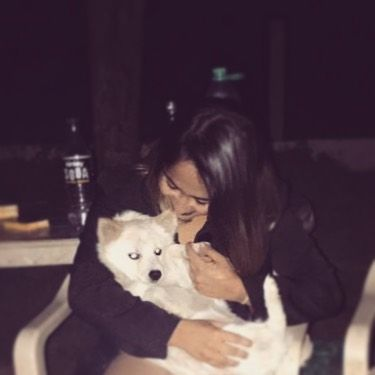 Zahara Sethjiwala with her pet